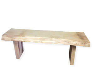 Sugar Maple Bench with Wooden Legs