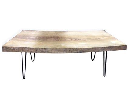 Ash Coffee Table with Hairpin Legs