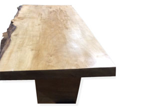Silver Maple Coffee Table with Wooden Legs